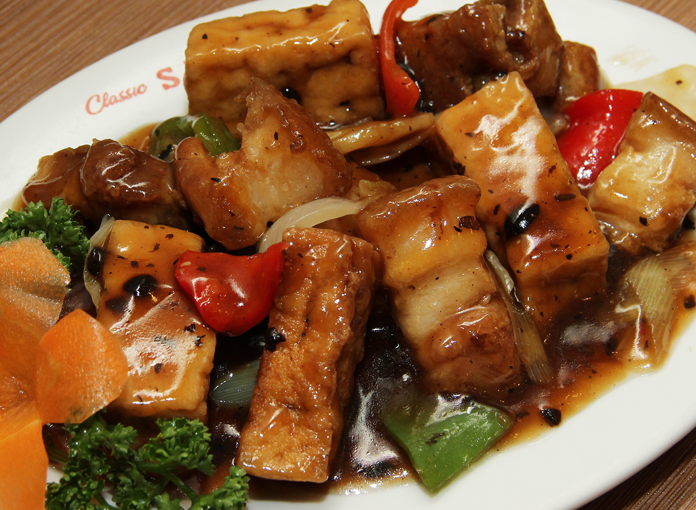 fish fillet with tofu and tausi